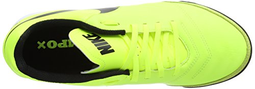 Nike Tiempox Genio Ii Leather Tf, Chaussures de Football Homme Jaune (Vert Volt/Black-Vert Volt)