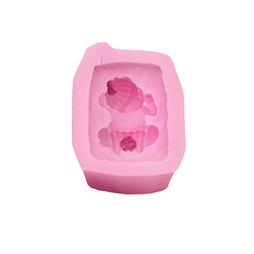 Hshduti 3d baby stampo in silicone sapone fatto a mano cioccolato torta fondente strumento 1 pz vestito pink