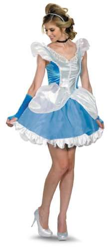 Disguise Costumes Disney Deluxe Sassy Cinderella Costume, Blue/White, ()