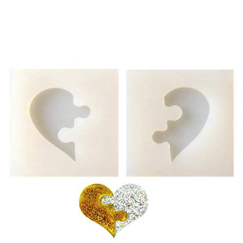 Semoic 2 / Puzzle Juego Moldes Silicona En Forma Corazón