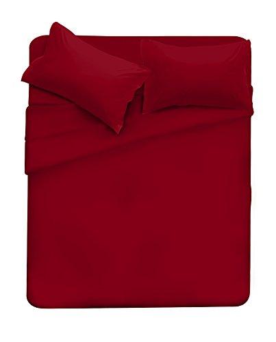 Elegant completo letto, microfibra, cl el bordeaux 2pst, matrimoniale, 4 unità