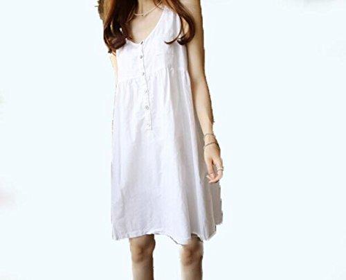 DESY Mode neue Baumwolle und Leinen Mutterschaft Kleid, Sommer kleine frische Kleid, schwangere Frauen Kleid , white , - Mutterschaft Rock Leinen