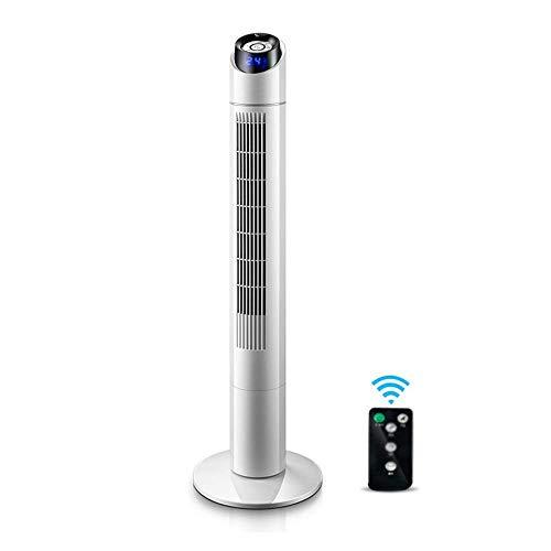 JHJHH JHome-Pedestal Fans Oszillierende Turm Lüfter Leise mit Fernbedienung Timer Kühlung Blattlos Ideal für Home und Office White -