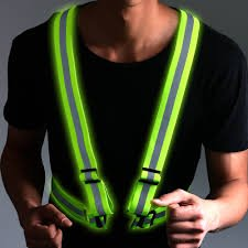 LifeKrafts Polyester Elastic Lightweight Adjustable and High Visibility Safety Reflective Vest