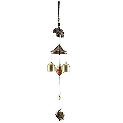 Aufee Windspiel, Garten Ornamente Elefanten Form Metall Hängende Wind Glocke Outdoor Geschenk Dekoration für Hausgarten