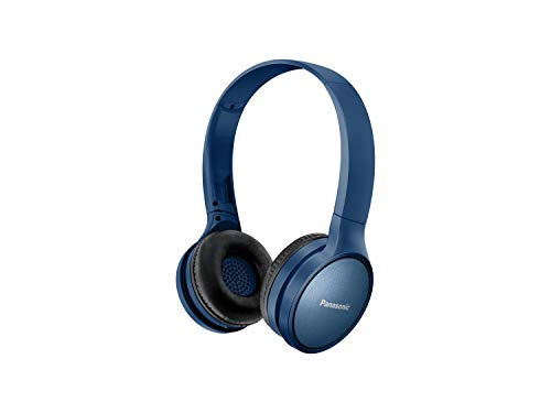 Panasonic Bluetooth Kopfhörer RP-HF410BE-A in blau (On-Ear, bis 24 h Akkulaufzeit, Quick Charge, Sprachsteuerung, 30mm Wandler)