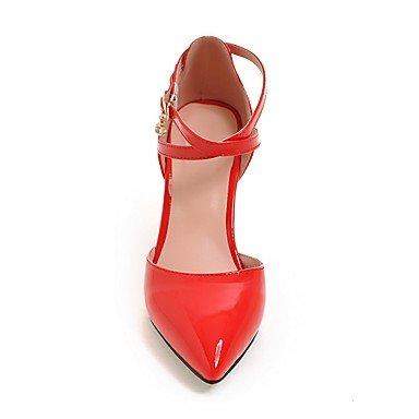 LvYuan Damen-Sandalen-Büro Kleid Party & Festivität-PU-Stöckelabsatz-Andere-Schwarz Rosa Rot Weiß Beige Red
