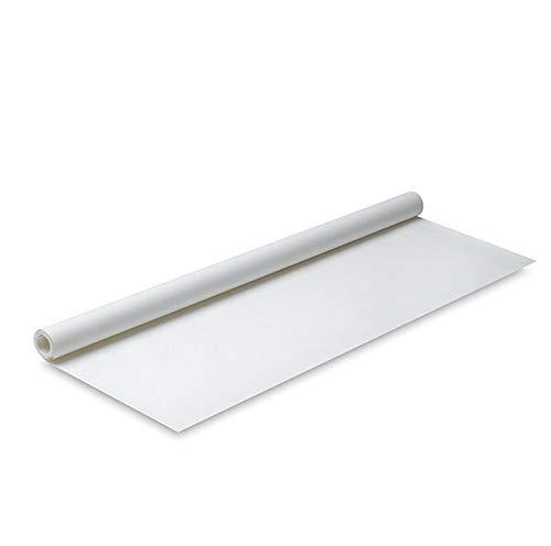 ZADAWERK® Premium Seidenpapie Schnittmusterpapier Skizzenpapier Papierrolle Zuschneidepapier transparent (2 Rollen, Weiß)