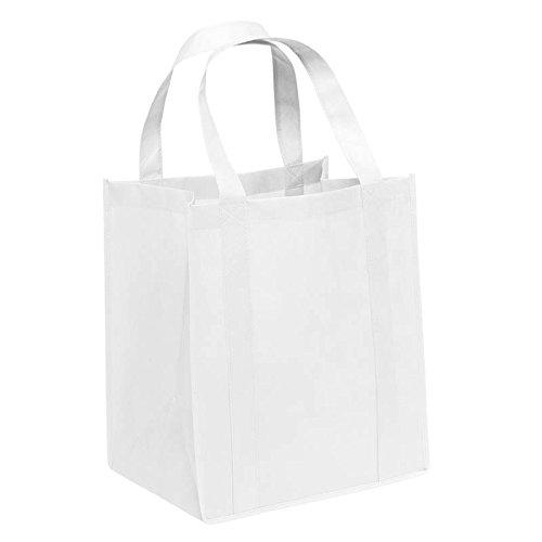 Pack von 3-umweltfreundlich, wiederverwendbare Tasche, non Woven Lebensmittels Tasche 38,1cm H x 33cm W x 25,4cm Zwickel mit Griffen-carrygreen Staubbeutel weiß