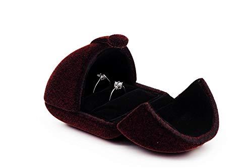 TVKEB-RING BOX Home Mode Doppel Open Pair Ring Box Snap High-End-Schmuckschatulle für Hochzeit/Valentinstag/Verlobungsring