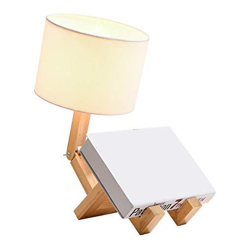 Vom Menschen geformte Leuchte aus Holz, 110 V, 220 V, Tischlampe für Schlafzimmer, lustige Schreibtischlampen mit Holzfuß, einzigartige Tischlampen für Kinderzimmer