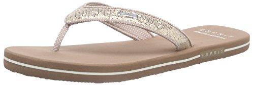 ESPRIT Glitter Thongs, Damen Zehentrenner, Beige (295 cream beige), 40 EU (Thong Beige)