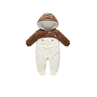 Feicuan Baby Snowsuit Strampler Neugeborene Säugling Jumpsuit mit Kapuze Penguin Bodysuit Winter Warm 0-12 Monate Toddler