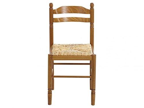 VOTRE SPECIALISTE 73 1 Chaise DE Cuisine En Bois Assise Paille Jeanne HETRE