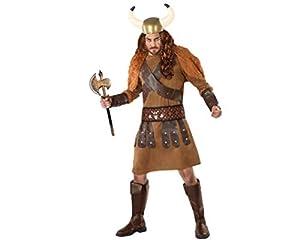 Atosa-61399 Atosa-61399-Disfraz Vikingo-Adulto Hombre, Color marrón, M a L (61399