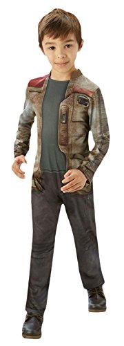 Kenobi Kostüm General (Fancy Ole - Jungen Boy Karneval Kostüm Deluxe Finn Star Wars , Mehrfarbig, Größe 110-116, 5-6)