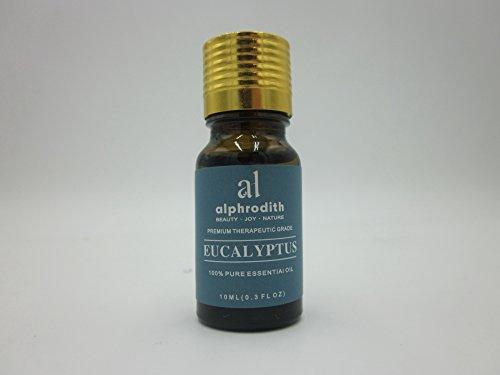 Aceite esencial de eucalipto de aromaterapia premium, 100% orgánico, sin diluir, grado terapéutico, aceites aromáticos, 10 ml para difusor, relajación, terapia de la piel y más