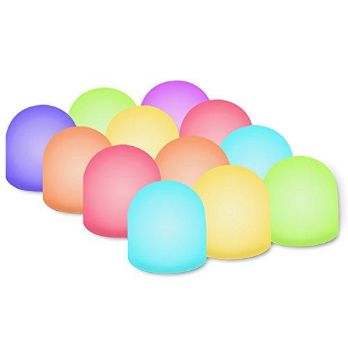 Neuheit Place Farbwechsel Mini Nachtlicht, Multicolor LED Beleuchtung-Nachtlicht für Kid 's Schlafzimmer, Badezimmer, Wohnzimmer-batteriebetrieben (12Stück)