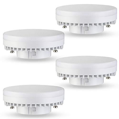 Kohree GX53 LED Lampe Warmweiß 3000K 8W 700LM Leuchtmittel Glühlampe, statt 50W Halogenlampen, Flimmerfrei, nicht dimmbar, 120 Grad Winkel, CRI> 82, 4er Pack, Energieklasse A+