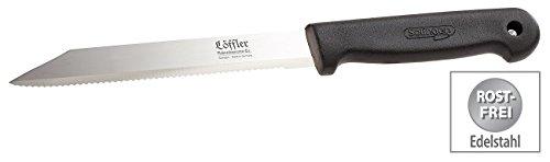 Löffler Schneidewaren Co. Brot-Messer: Allzweckmesser aus Solingen, Edelstahl, 16-cm-Klinge, Sägeschliff (Allzweck-Messer)