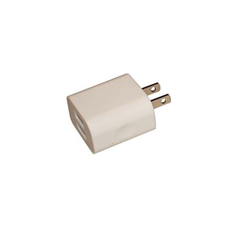Universal USB Netzteil (US Plug) Ladegerät Travel Charger mit 2 USB Anschlüssen für USA, Kanada, Mexiko, Südamerika, China, Japan usw, 100-240V, Output: 5V 2000mA (2A)