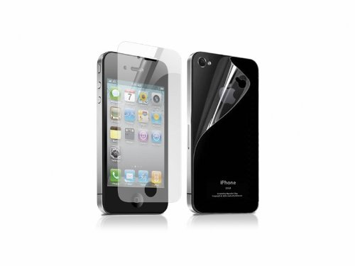 2 Front + 2 Back Full Body HD Clear Screen Protector Guard For Apple iPhone 4S 4