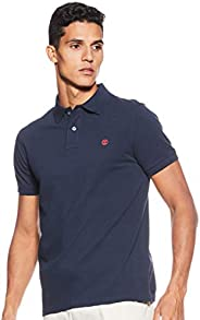 TIMBERLAND Men's Millers River Slim Ss Polo, Blue (Dark Sapphire 433), Me