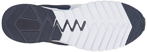 Puma Ignite Dual Disc Synthétique Chaussure de Course Electric Blue-Peacoat-White