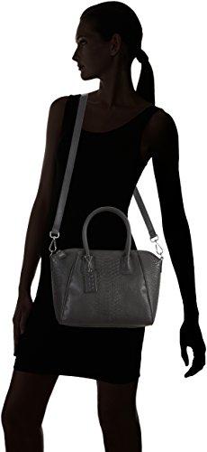 POON  Lederhand- / Schultertasche, Sac à main pour femme Taille unique schwarz