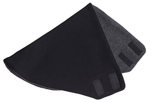 Hilltop Polar Bandana doppellagig/Dreieckhalstuch mit Fleece und Klettverschluß/Halstuch, Farbe/Design:Schwarz uni -