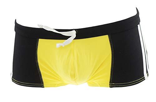 Naughty Bitz Sexy & Snug Herren Badehose Kordelzug Trunks/Shorts Beachwear in 5Farben Gr. Medium, zitronengelb