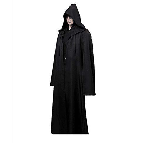 1 STÜCK Neue Darth Vader Terry Jedi Schwarz Robe Jedi Ritter Hoodie Mantel Halloween Cosplay Kostüm Cape für Erwachsene,XXL
