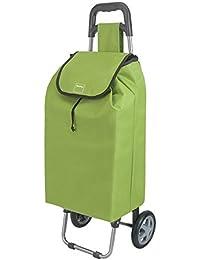 Metaltex Chariot de courses Daphné, 40L, vert, Métal, Green, 88 x 36 x 6.5 cm