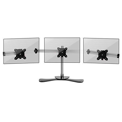 Duronic DM753 Monitorhalterung/Tischhalterung/Standfuß/Monitorständer für einen LCD/LED Computer Bildschirm/Fernsehgerät mit Neig, Schwenk und Rotierfunktion