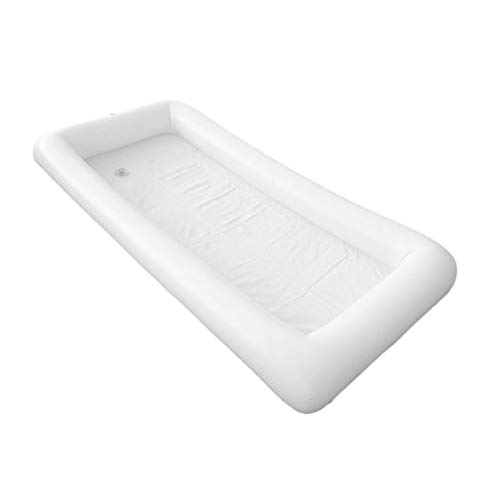 Bar Drain Tray (Kongqiabona Inflatable Serving Bar Salad Buffet Ice Tray Food Drink Containers with Drain Plug for Picnic Pool Party Camping)