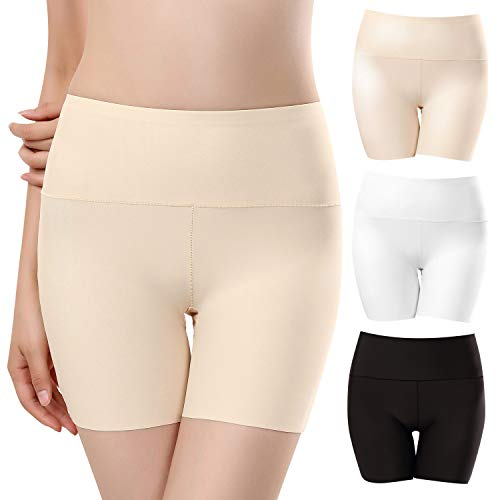 UMIPUBO Panties Nahtlose Unterhose Damen Unsichtbar Boyshort Slip Kurz Hose Schlüpfer Light Elastisch Unterwäsche Leggings 3er Pack - Kurz-slip