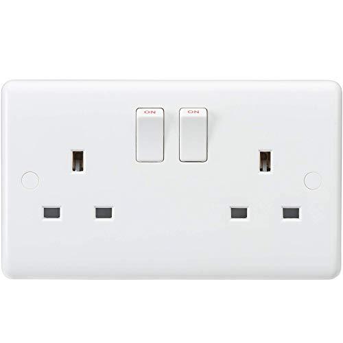 Knightsbridge - Interruptor de dirección con Borde Curvado, Blanco, CU9000