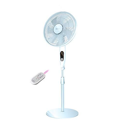 Preisvergleich Produktbild Elektrischer Ventilator Hause Vertikale Bodenventilator Silent DC Inverter Fan Intelligente Fernbedienung Timing 12 File Shaking Head Fan (Color : Blue,  Size : 45 * 22 * 138CM)