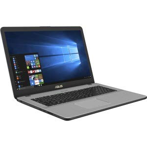 "Asus Vivobook Pro N705UD-GC104T Notebook con Monitor 17.3"" HD, Intel Core i7-8550U, RAM da 16 GB, Scheda Grafica nVidia GTX1050, 4 GB GDDR5, HD da 1 TB e SSD da 256 GB, Star Grey"