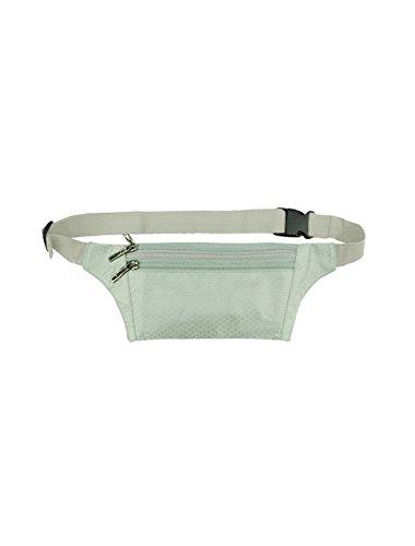 sourcingmap® Unisex drei RV Taschen e-Geschäft Argyle Design Taille Tasche Silber Ton Silver