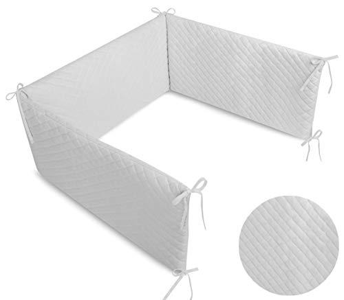 Callyna® - Tour de lit Velvet évolutif déhoussable douceur extrême, tissu haut de gamme, 100% Union Européenne. Gris