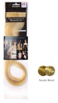 Balmain Lot de 2 mèches d'extensions en cheveux naturels Bande adhésive Blond nordique 40 cm