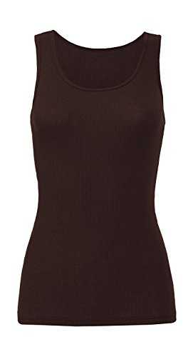 Trägershirt '2x1 Rib Tank Top', Farbe:Chocolate;Größe:S S,Chocolate - Rib Tank Top