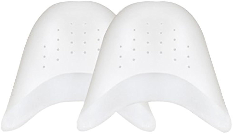 rosenice 2 Paar Spitze Schuhe Silicia Gel Pads Spitze von Pointe Tanz Athlet Schuh Protector mit atmungsaktivem