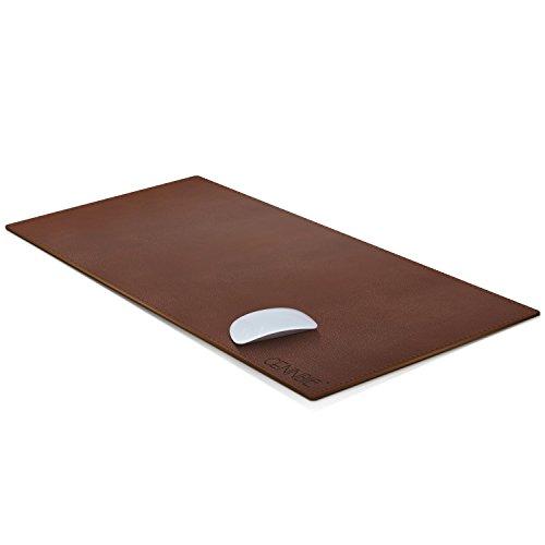 fice Mauspad, CENNBIE Wasserdichte Schreibtischunterlage aus PU-Leder, Ultradünnes Mousepad zweiseitig nutzbar, ideal für Büro und Zuhause (dunkelbraun 90 * 40 cm) ()