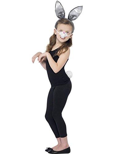 Smiffys Kinder Kostüm Zubehör Hase Ohren Nase Schwanz Karneval Fasching (Kostüm Hase Kinder)