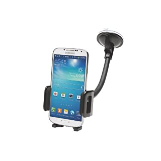 Kensington Universal Windscreen and Vent Car Mount-Black-for all Smartphones, including iPhones, Android, Windows Phones