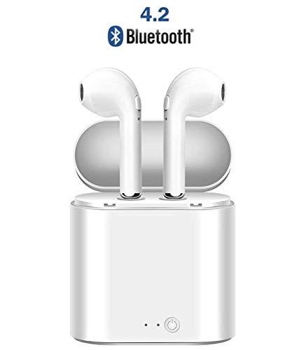 Auriculares inalámbricos Bluetooth, auriculares inalámbricos Auriculares deportivos Bluetooth con caja de carga, auriculares inalámbricos en la oreja para iPhone de Apple y teléfonos Samsung y Android