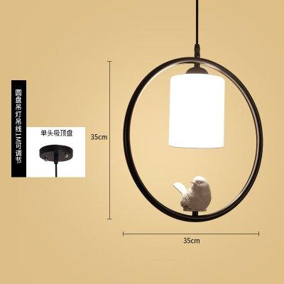 Luckyfree Pendelleuchte Zimmer Bar Cafe Restaurant Küche Flur Lampen Deckenleuchte Kronleuchter kreative Moderne, einfache, Schwarze Kreis Vogel