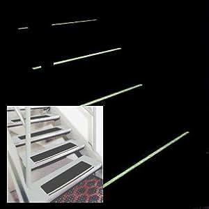 8 treppenstufen schutz rutschfest leuchten im dunkeln k che haushalt. Black Bedroom Furniture Sets. Home Design Ideas